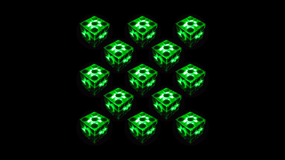 Green_cubes_Dices