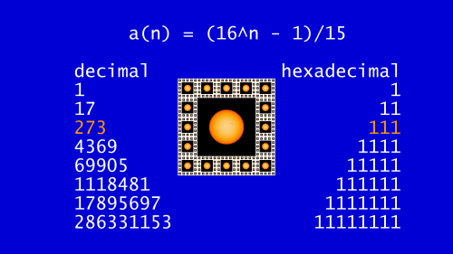 Repunit_hexadecimal_numbers_111